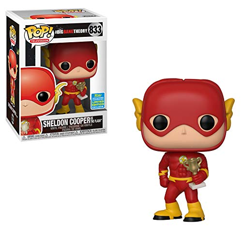 Funko POP TV Big Bang Theory - Sheldon as Flash (Justice League Halloween) - Summer Convention Exclus