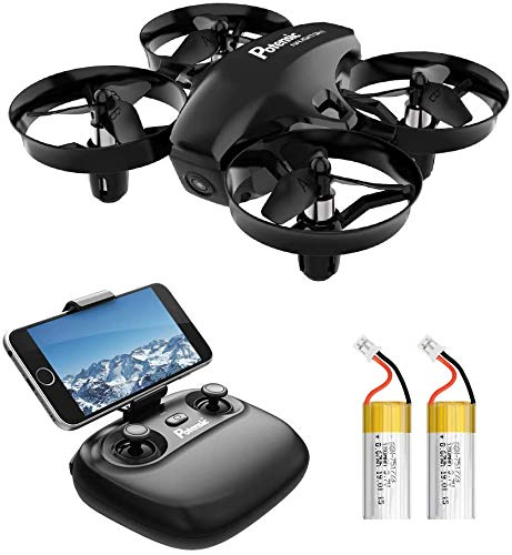 Potensic A20W Mini Drone with Camera for Kids, with 3 Batteries, FPV 2.4G WiFi, Induction Mode of Gravity, Altitude Hold…
