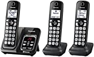 PANASONIC Expandable Cordless Phone System with Link2Cell Bluetooth, Voice Assistant, Answering Machine and Ca