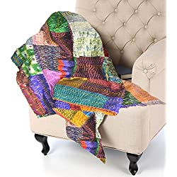 KraftDirect Quilts Throws - SUPERIOR QUALITY, Decorative Throws For Sofa, Quilted Throws For Sofa, Sofa Throw Cover …