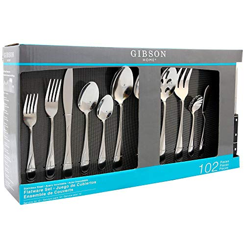 Stainless Steel Spoon Gibson (Brantley 102-Piece Service for 12-Flatware Set)