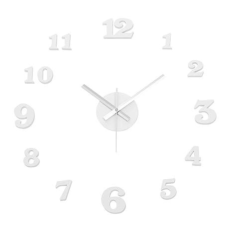 Reloj de Pared Adhesivo de Polipropileno Blanco Moderno para salón Vitta - LOLAhome