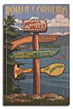 Lantern Press Maggie Valley, North Carolina - Sign Destinations (10x15 Wood Wall Sign, Wall Decor Ready to Hang)