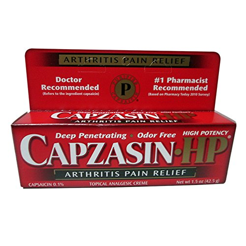 Capzasin-HP Arthritis Relief Topical Analgesic Cream, 1.5-Ounce Tubes (Pack of 2)