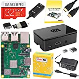 PC Hardware : CanaKit Raspberry Pi 3 B+ (B Plus) Starter Kit (32 GB EVO+ Edition, Premium Black Case)