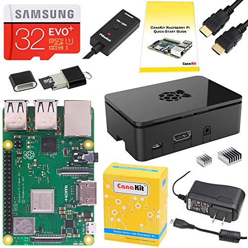 """CanaKit Raspberry Pi 3 B+ (B Plus) Starter Kit (32 GB EVO+ Edition, Premium Black Case)"""