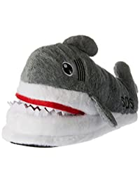 AIZHE Soft Fluffy Chomping Shark 3D Solid Cotton House Winter Plush Slippers