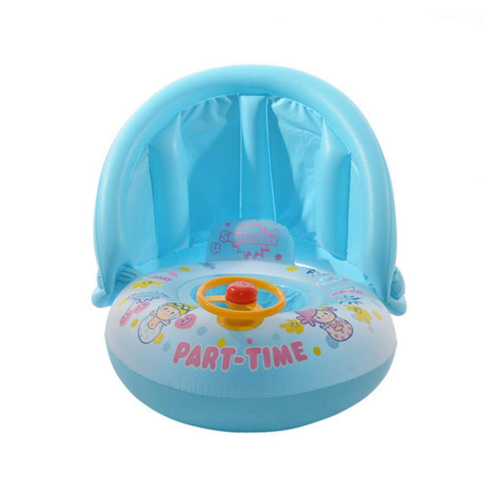 ZFFMSS Baby Sunshade Thickened Swimming Boat Toys Toddler Paddling Pool 2 Ring Small 66cm Child Mini Inflatable Kid Size:66X66X75cm by ZFFMSS