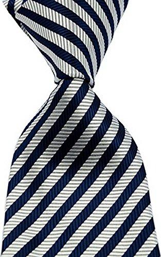 New Classic Striped JACQUARD WOVEN Silk Men's Tie Necktie (Dark (New Silk Mens Necktie Tie)