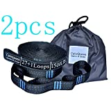 2pcs 56 Loops 3000+ LBS Versatile Heavy Duty & 100% No Stretch Suspension System Kit FOR Camping Hammock Includes Carry Bag by Cutequeen (pack of 2)
