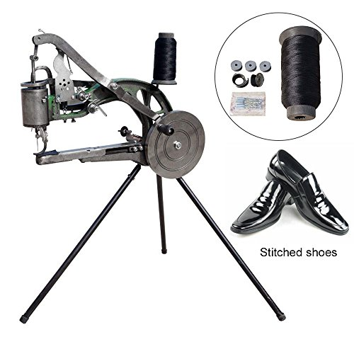 Seeutek Shoe Repair Machine Manual Shoe Mending Sewing Machine - Cotton Nylon Line Sewing Machine (Wobble 0.5')