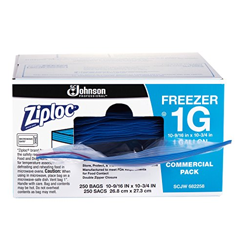 Ziploc Freezer bag, gallon, 250 ct