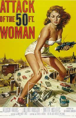 Attack Of The 50 Ft Woman - Movie Poster By Stop Online
