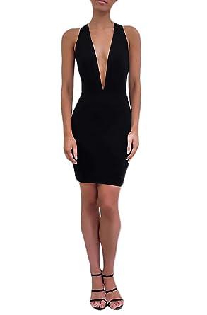 Vestido negro corto de tubo