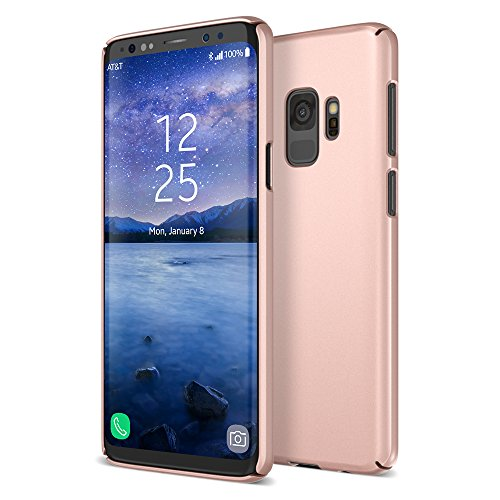 Maxboost Galaxy S9 Case mSnap Series [Perfect Fit] Samsung Galaxy S9 Case Anti-Slip Matte Coating for Excellent Grip / Scratch Resistant Thin Snap Protective Hard Phone Covers 2018 [Rose Gold] - Rose Gold Thin