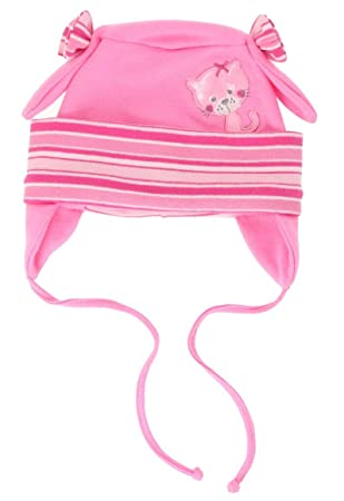 afcf6b55fd52a Bonnet en coton pour bébé fille - Printemps Automne - 0 2 3 6 9 12 ...