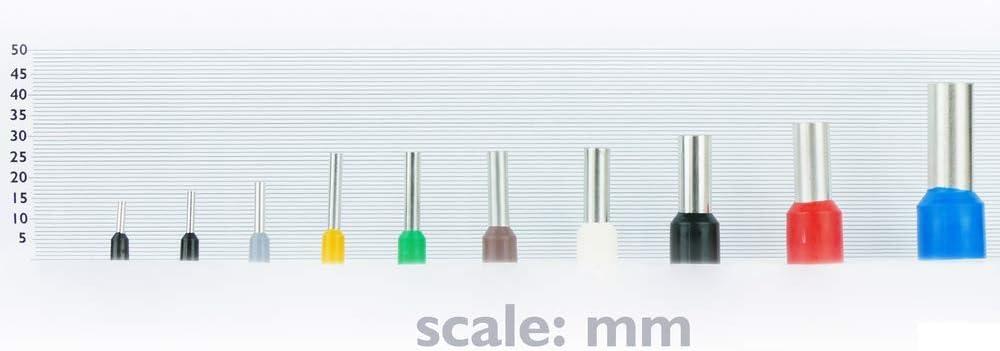 BeMatik Connecteur des bornes isol/ées /à sertir pour c/âble /électrique 1.5x8 mm 100 unit/és