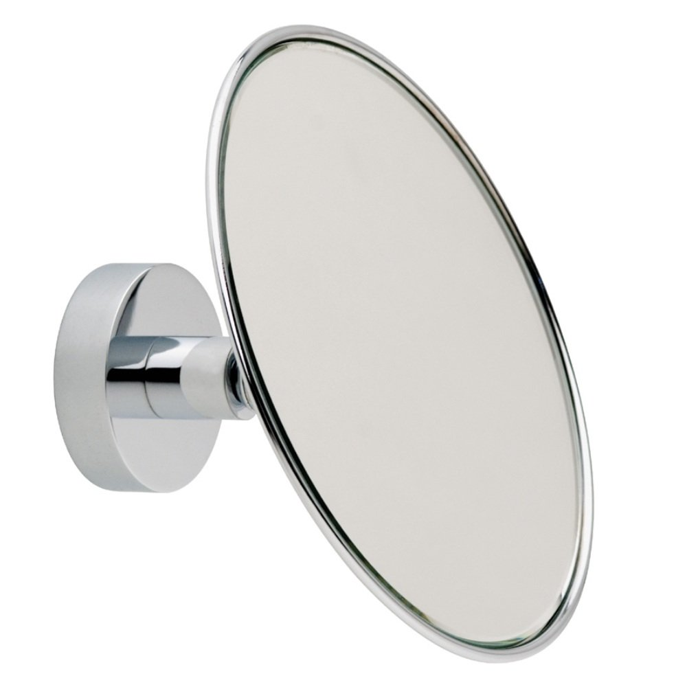 Nie Wieder Bohren Mr486 14.5 x 8.5 x 14.5cm Miroo Make-Up Mirror with''Never Drill Again'' Fastening Technology - Chrome Plated