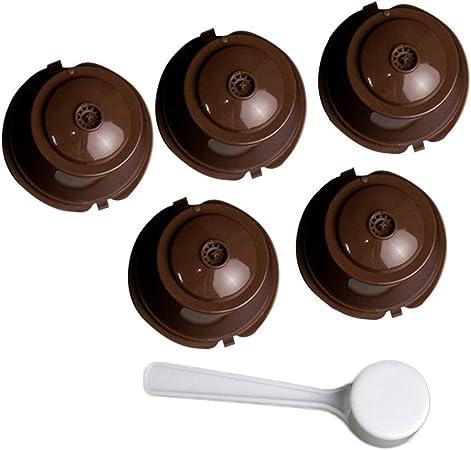 iSuperb 5pcs Filtros Cápsulas de Café Recargable Cápsulas de Café de Plástico Dolce Gusto Capsule Compatible con máquinas originales Nespresso: Amazon.es: Hogar