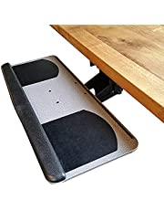 Keyboard Tray with Adjustable Height and Tilt for Standing Desks and Short Depth Desk Tops