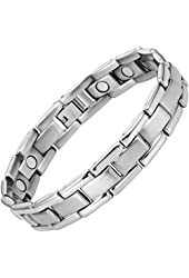 Willis Judd Men's Titanium Magnetic Bracelet Adjustable