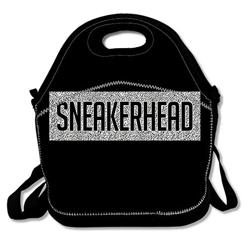 Sneakerhead Yeezy Boost 350 Pattern Insulated Neoprene Lunch Bag Reusable Thermal Thick Lunch Tote Bag For Women,Teens,Girls,Kids,Adults-Lunch Box For Outdoor,Work,Office,School