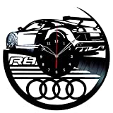 Audi R8 Vinyl Record Wall Clock Fan Art Handmade Decor Unique Decorative Vinyl Clock 12″ (30 cm) For Sale