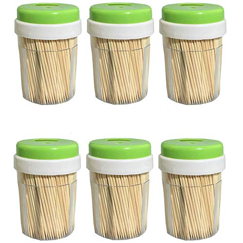 Bamboo Wooden Toothpicks (3000 Bulk Pack) – Round, Strong, Splinter-Free for Teeth and Appetizers