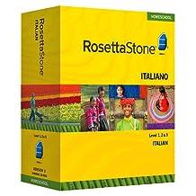 Rosetta Stone Homeschool Italian Level 1-3 Set including Audio Companion