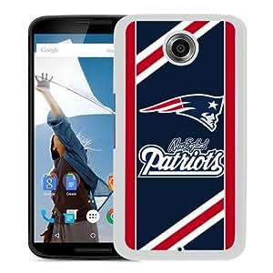 Popular Google Nexus 6 Case, Beautiful Designed Case With New England Patriots 06 White Google Nexus 6 Cover