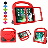 LTROP Compatible Kids Case Replacement for iPad Mini 1 2 3 with Built-in Screen Protector, Shockproof Lightweight Hard Cover Handle Stand Case for iPad Mini 1st 2nd 3rd Generation, Red
