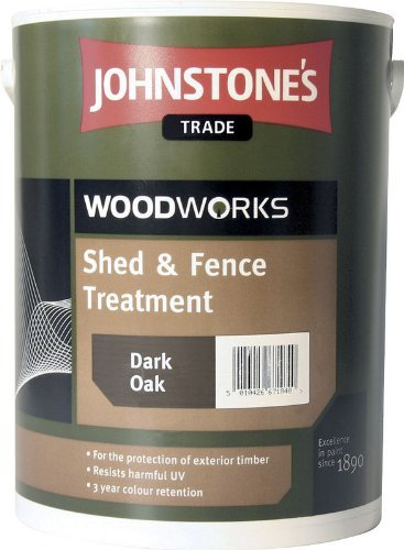5 LTR JOHNSTONE'S WOODWORKS SHED & FENCE QUICK DRY WOODSTAIN RUSTIC RED by Johnstone's