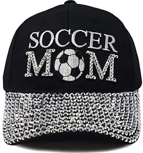 H-210-SCRM-06 Sports Mom Baseball Cap - Soccer Mom (Black) (Soccer Mom Ball Cap)