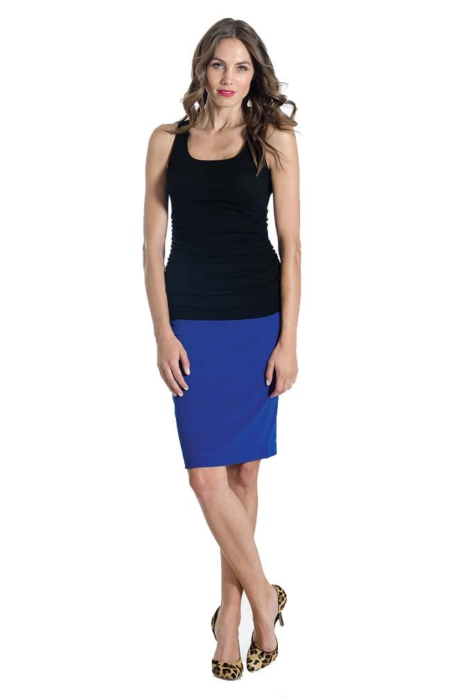 Lilac Pencil Maternity Skirt - Solid - Cobalt - Medium by Lilac (Image #5)