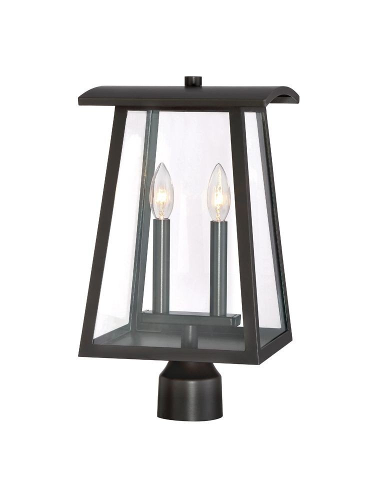 Designers Fountain 22636-BNB Calderwood Exteior Post Lantern, Burnished Bronze by Designers Fountain