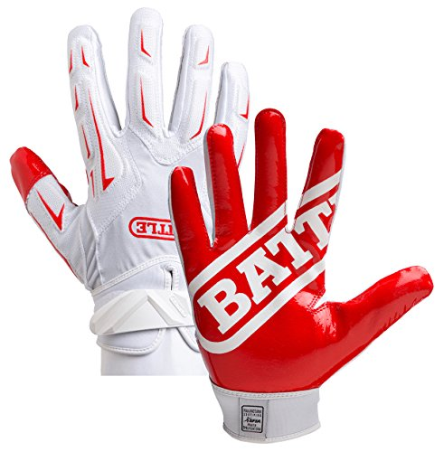 Battle Sports Hybrid Gloves - Red / White - Youth - LG by Battle Sports Science