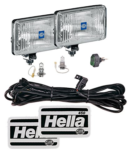 (HELLA 005860891 450 Driving LAMP KIT (Clear Lens) H3 12V SAE/ECE)