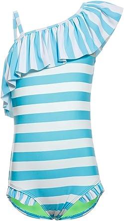 1-Piece Crisscross Back Swimsuit with Skirt Colorful Swimwear for Big Girls Age 6-14Y DUSISHIDAN Girls Swimming Costume