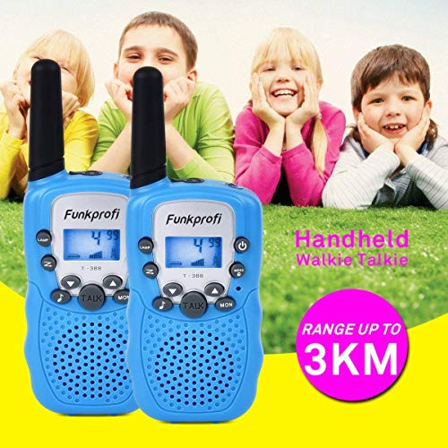 Funkprofi Walkie Talkies for Kids 22 Channels Long Range Rechargeable Walkie Talkies with Battery and Charger, Gift for Boys and Girls, 1 Pair (Blue) by Funkprofi (Image #7)