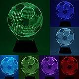 Hitommy 3D Bulbing Football Soccer Night 7 Multicolor Changeing LED Desk Table Light Lamp