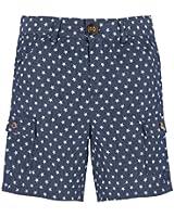 Andy & Evan Little Boys' Star Navy & White Shorts