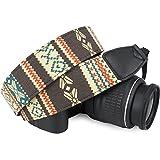 Wolven Canvas DSLR/SLR Digital Camera Neck Shoulder Strap Belt For Nikon,Canon,Sony,Samsung,Pentax,Olympus,Leica Camera ETC, Light Yellow Stripe Pattern