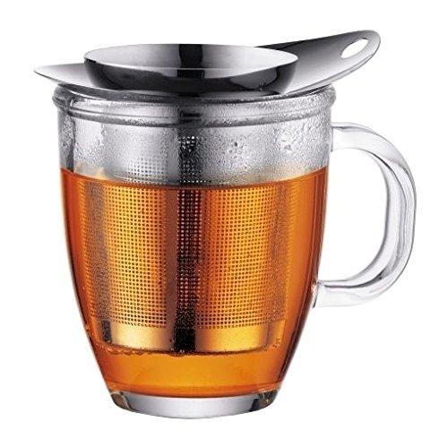 Bodum New Yo Yo Tea Cup Infuser with Glass Mug 0.3L 10oz - Bodum Teacups