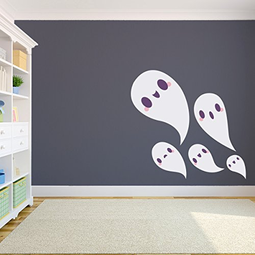 43SabrinaGill Ghost Family Wall Decal Sticker Ghost Decal Halloween Decal Halloween Wall Art Ghost Decor Ghost Decoration 11