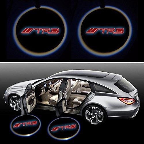 Beon Pack of 2 Toyota Racing Development TRD Logo Wireless LED Car Door Light