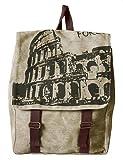 Mass College Wind lovely small floral shoulder bag backpack schoolbag travel bag canvas (Y37-light green), Bags Central