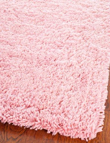 - Safavieh Classic Shag Collection SG240P Handmade Pink Area Rug (3' x 5')