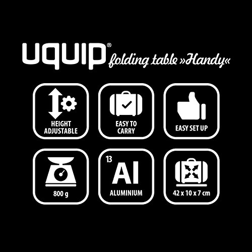 Uquip Handy Folding Roll Up Micro Side Table for Camping, Picnic, Travel, Beach by Uquip (Image #4)
