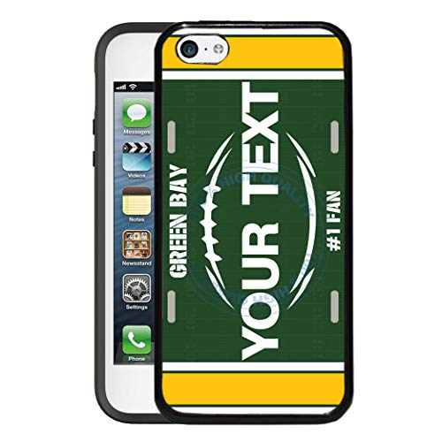 Touch Ipod Green (BRGiftShop Customize Your Own Football Team Green Bay Rubber Phone Case for Apple iPod Touch 5th & 6th Generation)