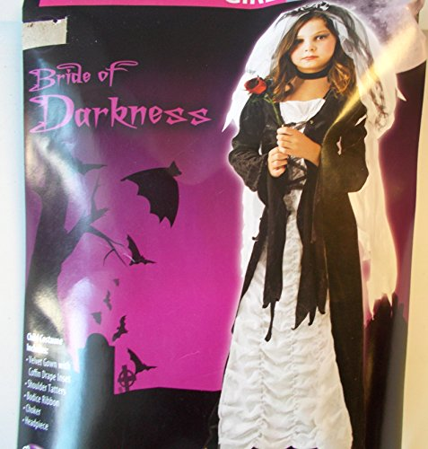 Kids Costumes Bride Of Darkness (Bride of Darkness Coffin Bride Child Costume Dress 10-12 NIP)